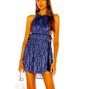 FREE PEOPLE MID SUMMERS DAY DRESS GORGEOUS BLUES